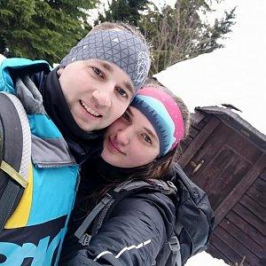 Nikol Podesvova na vrcholu Tupý vrch (23.1.2021 16:00)