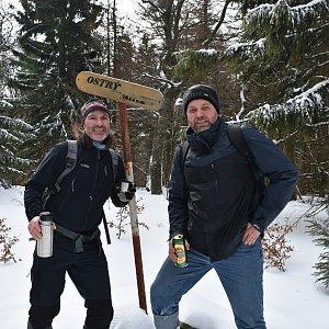 Ladislav Farý na vrcholu Ostrý (22.2.2020 9:00)