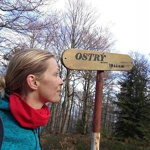 Michaela Karásková na vrcholu Ostrý (19.4.2020 16:09)