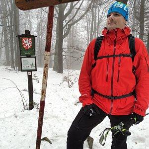 Vítězslav Vrána na vrcholu Ostrý (23.1.2021 14:07)