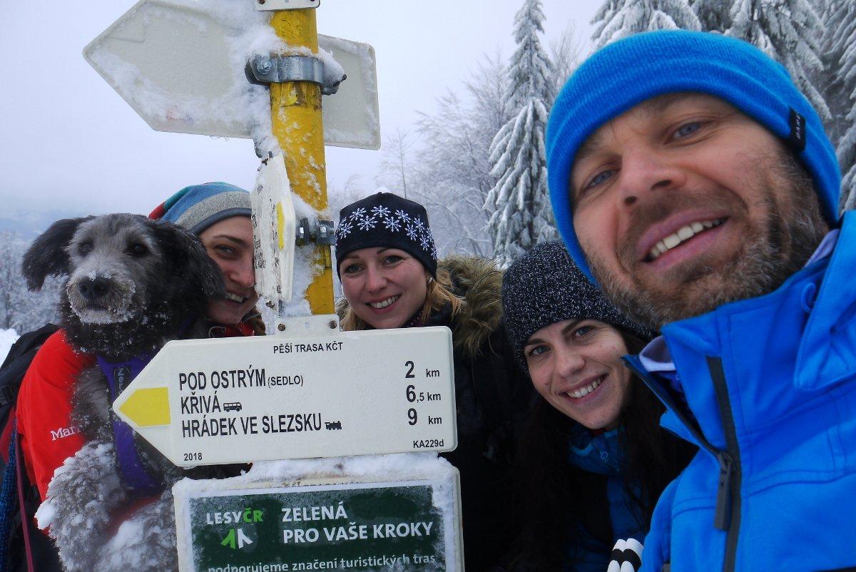 Simona na vrcholu Ostrý (16.1.2019 11:00)
