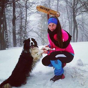 Paula Siudová na vrcholu Ostrý (14.2.2019 10:00)