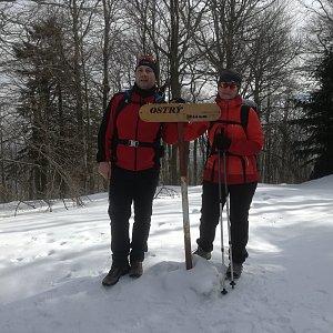 Jiří P na vrcholu Ostrý (23.2.2019 11:56)