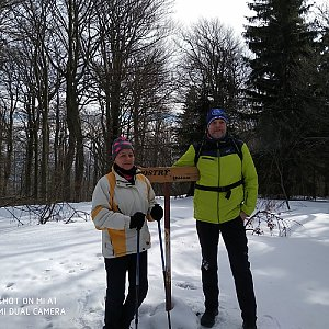 Jaros Ondra na vrcholu Ostrý (23.2.2019 11:57)