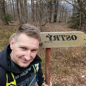 Jiří Tomaštík na vrcholu Ostrý (6.5.2021 13:57)