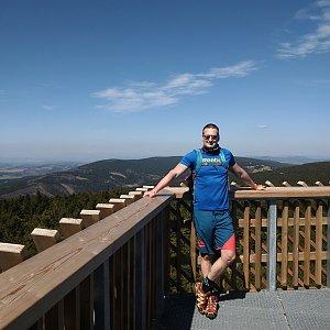Jiří Tomaštík na vrcholu Velká Deštná (18.4.2020 12:31)