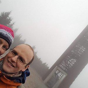 Michaela Karásková na vrcholu Velká Deštná (16.11.2020 14:50)