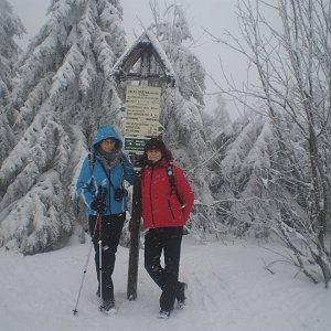 Vlasta a Zdena na vrcholu Velká Deštná (29.12.2018 10:01)