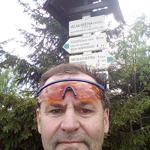 Li Be na vrcholu Velká Deštná (2.6.2019 10:40)