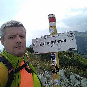 Vítězslav Vrána na vrcholu Steny, severný vrchol (20.7.2019 13:02)