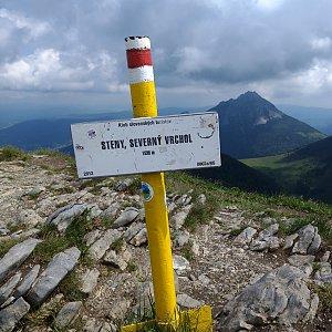 Jiří Tomaštík na vrcholu Steny, severný vrchol (4.7.2020 10:54)