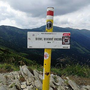 Vladimír na vrcholu Steny, severný vrchol (15.8.2020 13:17)