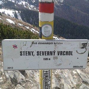 ŠenovKK na vrcholu Steny, severný vrchol (26.4.2019 13:24)