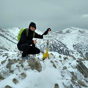 Aleš Sýkora na vrcholu Steny, severný vrchol (6.5.2019 13:03)