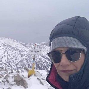 Pavlína Sýkorová na vrcholu Steny, severný vrchol (6.5.2019 13:03)