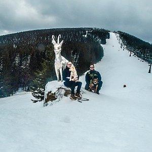 Jolana Moravcová na vrcholu Černava (18.2.2021 13:00)
