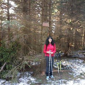 Jana Mayerová na vrcholu Zmrzlý vrch (30.3.2019 16:35)