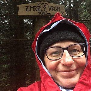 Kamila  Petrová na vrcholu Zmrzlý vrch (9.11.2019 14:14)