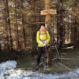 Radka Dubská na vrcholu Zmrzlý vrch (15.3.2020 12:33)
