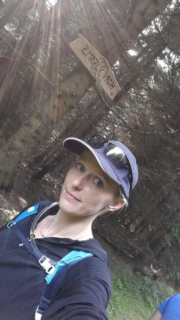 Michaela Karásková na vrcholu Zmrzlý vrch (29.7.2018 17:42)