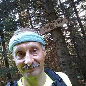 Jiří Sumbal na vrcholu Zmrzlý vrch (18.8.2018 17:38)