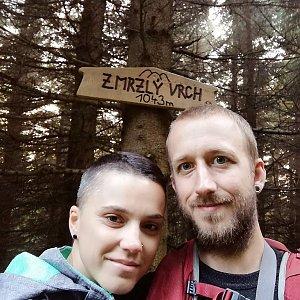 Michaela Hilscherová na vrcholu Zmrzlý vrch (8.9.2018 18:07)