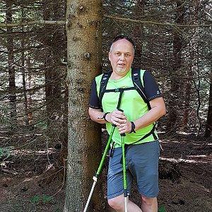 Fido a Myszka na vrcholu Zmrzlý vrch (9.9.2018 13:19)