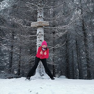 Michelle Sýkorová na vrcholu Zmrzlý vrch (29.12.2020 13:53)