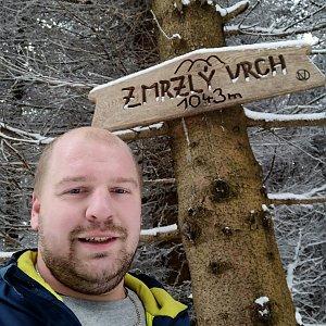 Petr Petrik na vrcholu Zmrzlý vrch (10.1.2021 12:32)