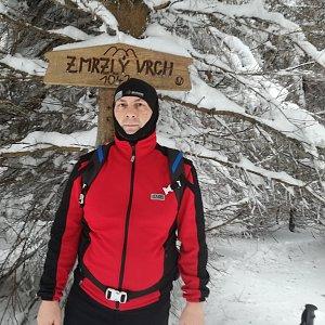 Jiří P na vrcholu Zmrzlý vrch (1.2.2019 13:58)