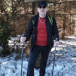 Aleš Sýkora na vrcholu Zmrzlý vrch (17.2.2019 13:44)