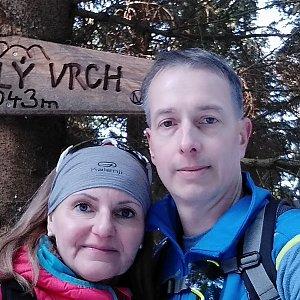 I+L Rajnochovi na vrcholu Zmrzlý vrch (18.2.2019 9:51)