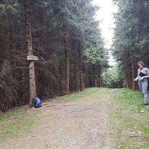 Marcela Kubíčková na vrcholu Zmrzlý vrch (5.6.2021 9:40)