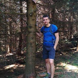 PeteBukař na vrcholu Zmrzlý vrch (25.5.2019 16:00)
