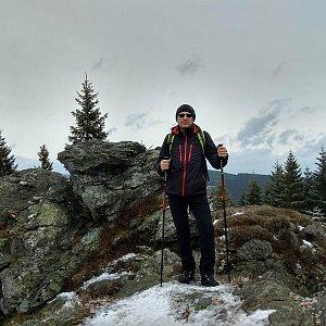 Aleš Sýkora na vrcholu Lyra (1.4.2018)