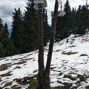 Jakub Kaleta na vrcholu Poludnica (8.5.2019 13:58)