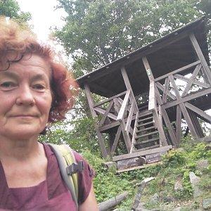 Anna na vrcholu Zámecká hora (25.7.2021)