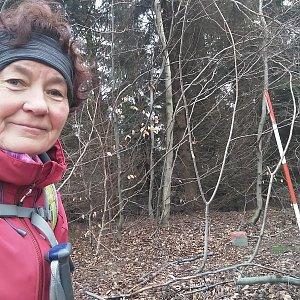 Anna na vrcholu Komorovský Grúň (28.2.2021)