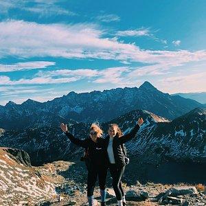 Ivča na vrcholu Sedlo Zawrat (12.10.2019 16:46)