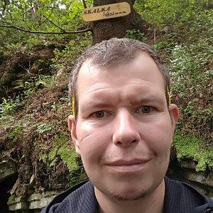 Michal Krčmář na vrcholu Skalka (na Pustevnách) (17.8.2019 12:14)