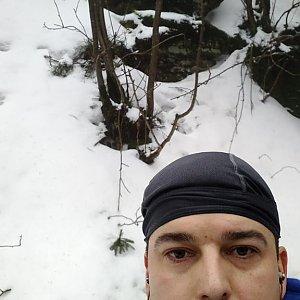 Petr Kowolowski na vrcholu Skalka (na Pustevnách) (5.1.2018 14:04)