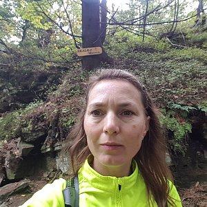Marcela Kubíčková na vrcholu Skalka (na Pustevnách) (28.9.2019 11:57)