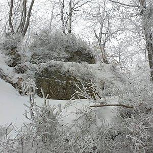 Petr Pepe Peloušek na vrcholu Skalka (na Pustevnách) (19.1.2020 12:06)