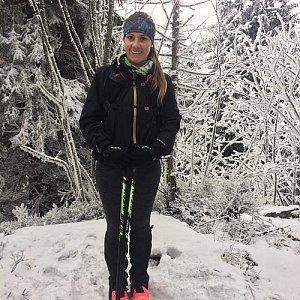 Monča Čaganová na vrcholu Skalka (na Pustevnách) (13.1.2018 13:40)