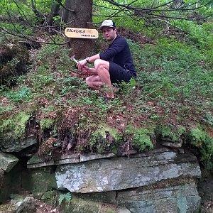 Jack Skurello na vrcholu Skalka (na Pustevnách) (16.6.2018 13:50)