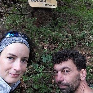 Babunka159 na vrcholu Skalka (na Pustevnách) (18.6.2018 13:55)