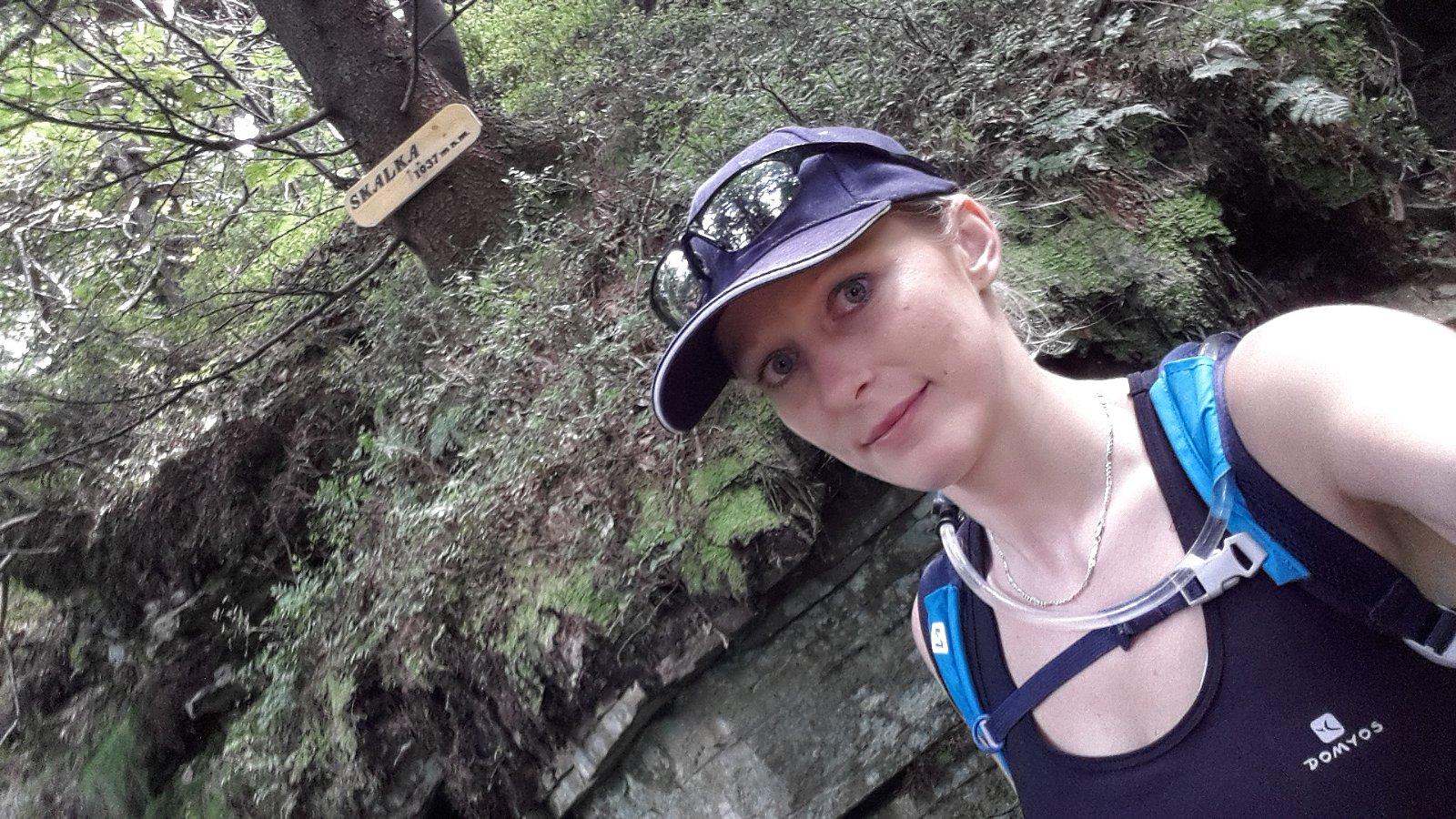 Michaela Karásková na vrcholu Skalka (na Pustevnách) (29.7.2018 14:28)