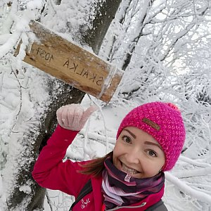 Michelle Sýkorová na vrcholu Skalka (na Pustevnách) (29.12.2020 13:09)