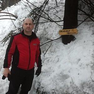 Jiří P na vrcholu Skalka (na Pustevnách) (3.2.2019 16:14)