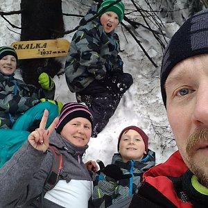 trefi.s na vrcholu Skalka (na Pustevnách) (3.2.2019 12:35)